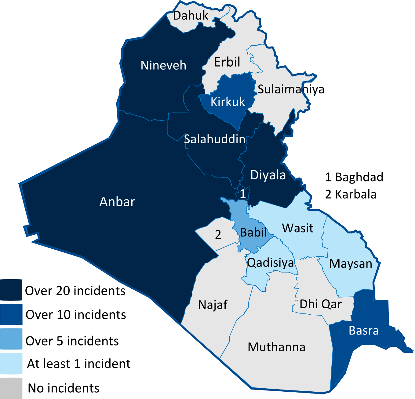 Isis 2014 Iraq Map