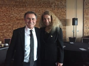 Madeleine White with Nouriel Roubini
