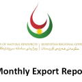 KRG Monthly Export Report
