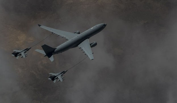 RAF Voyager KC2 refuels two Tornado GR4 over Iraq, Operation Inherent Resolve