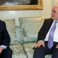 Haider Al-Abadi with Masoud Barzani, Feb2015