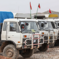 Seismic trucks at Chia Surkh