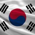 South Korea flag (waving) - shutterstock_160588298
