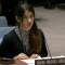 Nadia Murad addressing the UNSC