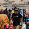 Ewan McGregor, Debaga IDP refugee camp (UNICEF)