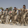 Iraqi army soldiers, Camp Taji, June 2015