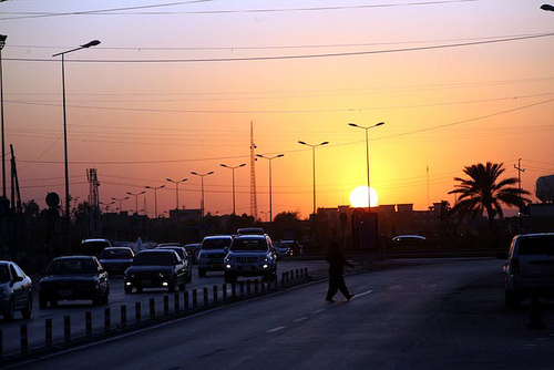Erbil, sunset, Oct 2009