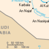 Saudi Iraq Kuwait border map