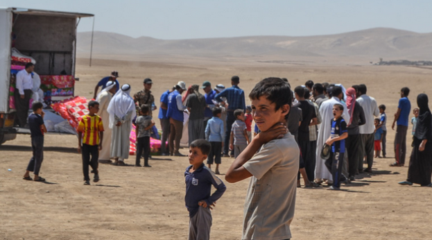 IDP, Refugee, child recently displaced from Tal Afar (IOM)