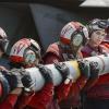 loading missile onto Super Hornet on USS Nimitz (Inherent resolve)