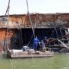 abandoned ship on Shatt al-Arab