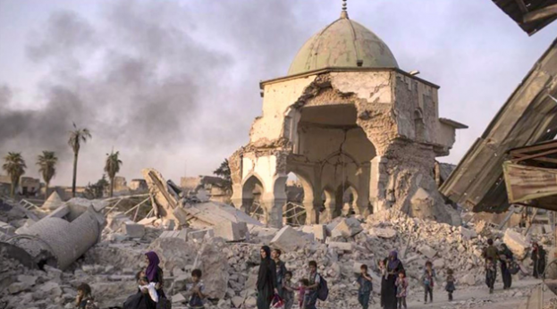 Iraq starts Rebuilding iconic Mosul Mosque Nouri-Mosque-in-Mosul-After-Retaking-from-Isis-Tasnim-623x346