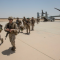 US Marines unload from MV-22B Osprey at Al Asad Air Base, Iraq, 040618 (Inherent Resolve)
