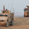 US and Turkish troops on joint patrol in Manbij, Syria