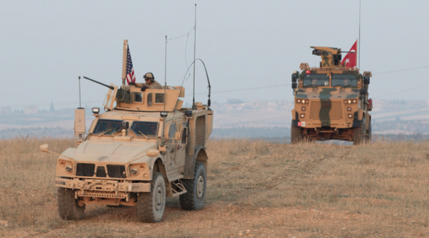 New Mission to Develop Iraq's Defense Institutions US-and-Turkish-troops-on-joint-patrol-in-Manbij-Syria-623x346