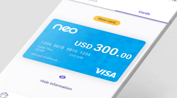 Iraqi company and Lebanese fintech launch the first digital-only payment card 'Neo' in Iraq Neo-623x346