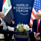 Barham Salih with Trump, World Economic Forum (WEF), Davos, 220120