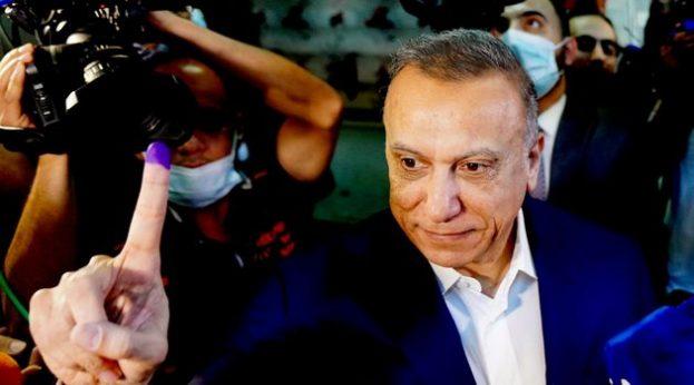 Mustafa Al-Kadhimi voting in Election 2021 (Govt of Iraq)